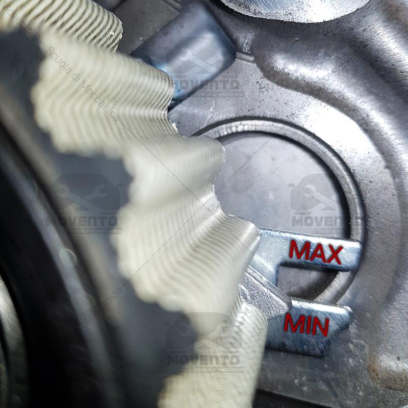 cuscinetto controllo cinghia range sicurezza cambiare