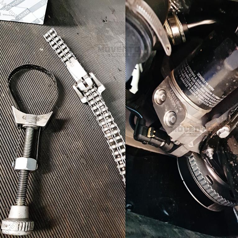 filtro olio catena fascia smontaggio