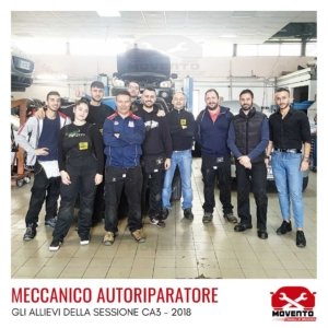 """Percorso formativo """"Meccanico autoriparatore"""" CA3 - 2018"""