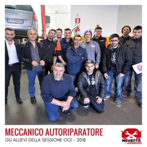 """Percorso formativo """"Meccanico autoriparatore"""" OQ1 - 2018"""